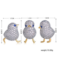 Load image into Gallery viewer, Baby Rhinestone Chicks Lapel Pins