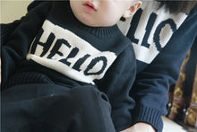 Load image into Gallery viewer, HELLO/BYE Fun Mother & Child Cotton Sweaters