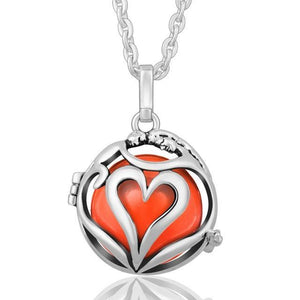 Love Embrace Angel Caller Locket Pendants Silver Plated