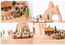 Load image into Gallery viewer, Mini Wooden Train Carousel Music Boxes