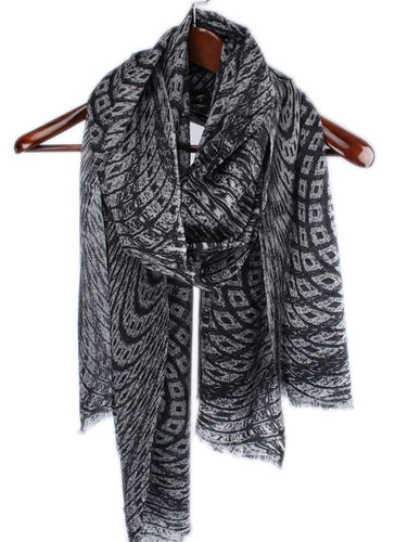 Diamond Wave Sheer Grey Pashmina Scarf