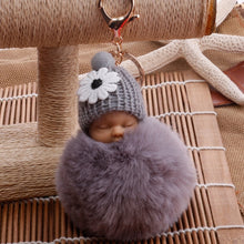 Load image into Gallery viewer, Sleepy Baby Furball Keychains