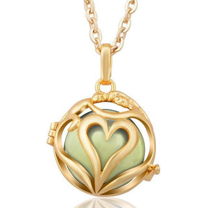 Love Embrace Angel Caller Locket Pendants Gold Plated