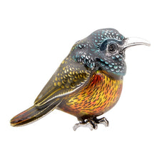 Load image into Gallery viewer, Enamel Sun Bird Brooches