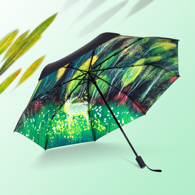 Magic Forest Elk Umbrella