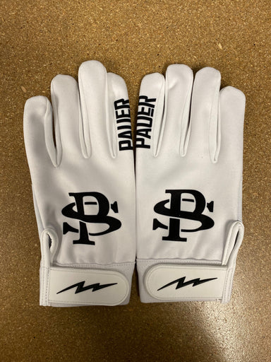 White Full Dye Sublimated Batting Gloves