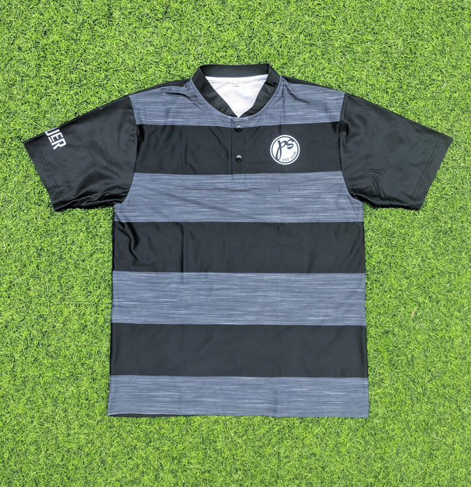 Grey/Black Striped Pauer Dri-Fit Full-Dye Polo