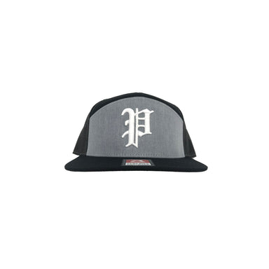 Pauer Script P Black & Grey Snap Back