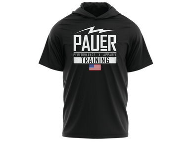 Pauer Training Fleece Short Sleeve Hooded Pullover