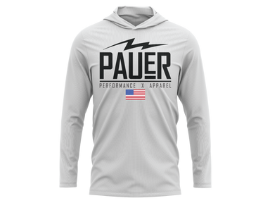 Pauer Classic Logo Blend Wicking Long Sleeve Hoodie
