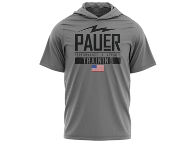 Kids Pauer Training Fleece Short Sleeve Hooded Pullover
