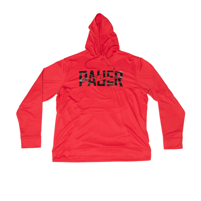 Pauer Tri-Blend Fleece Pullover Hoodie Red