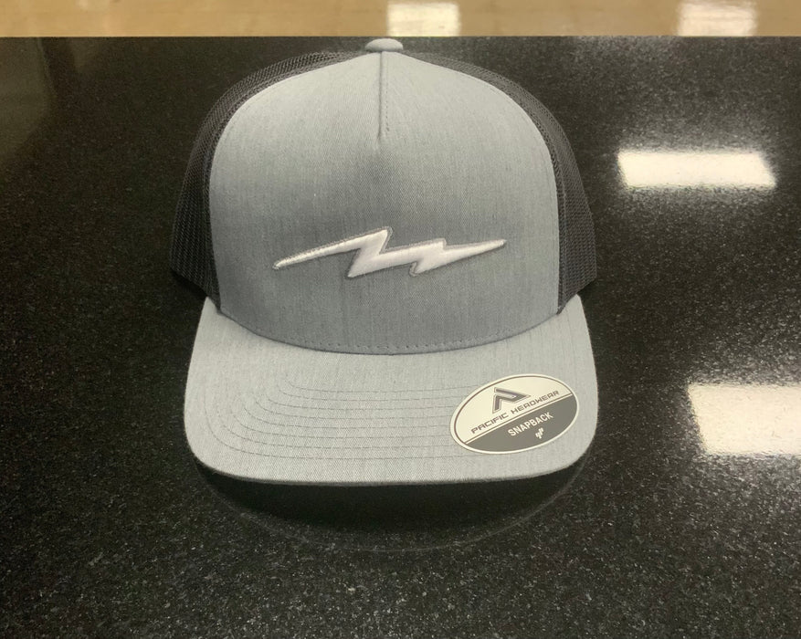 Pauer Bolt Gray/Black Snapback