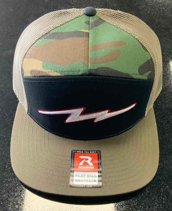 Pauer Camo White/Red Bolt Richardson Snap Back