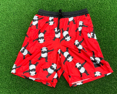 Pauer Dabbing Panda RED Sport-Stretch Graphic Short
