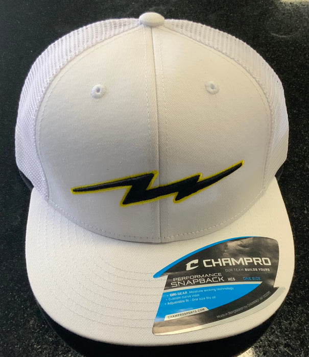 Pauer Bolt White Champro Snap Back