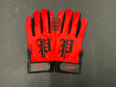 Pauer Old English P Red Batting Glove