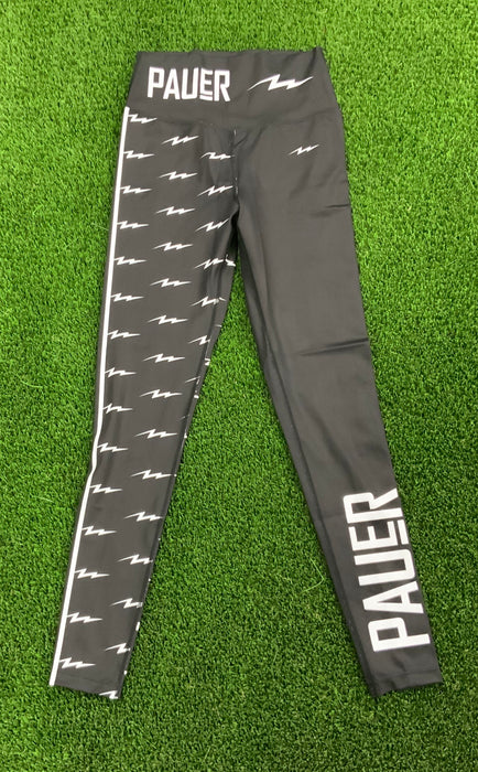 Pauer Bolt Black Leg Legging