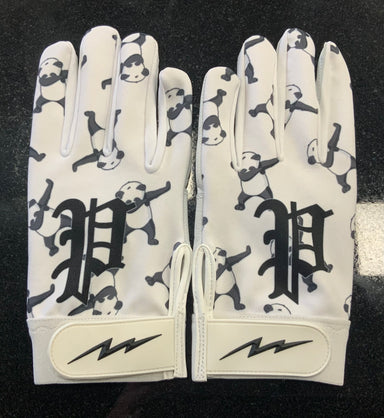 Pauer Panda White Logo Batting Glove