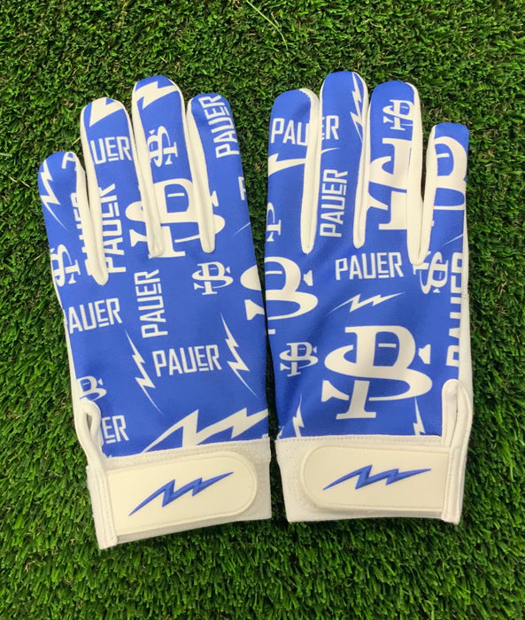 Pauer Bolts Royal Full Dye Batting Gloves