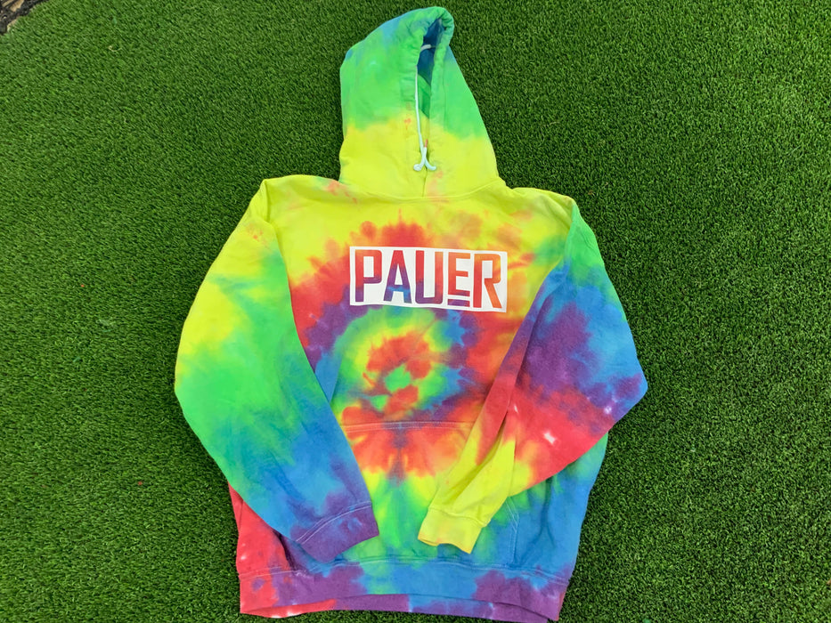 Pauer Blended Tie Dye Hooded Sweatshirt