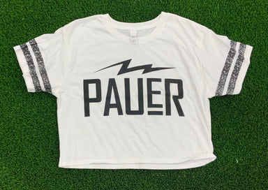 Pauer Bolt Crop Top White