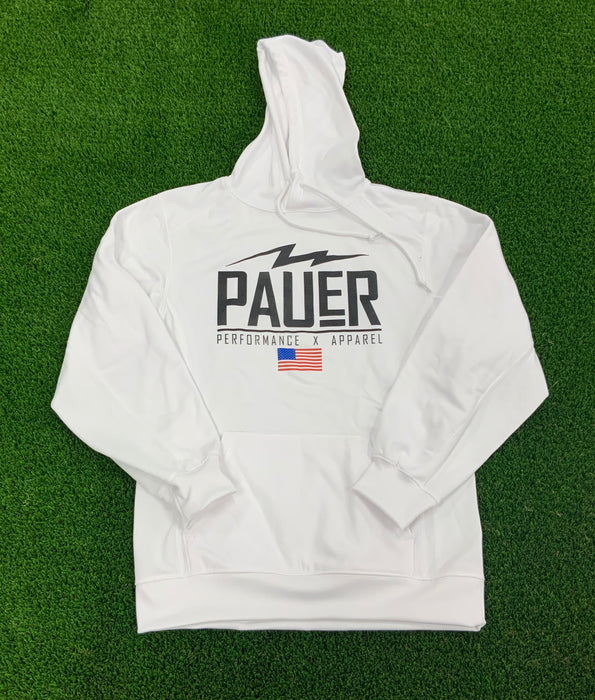 Pauer Performance Dry Fit Hoody White