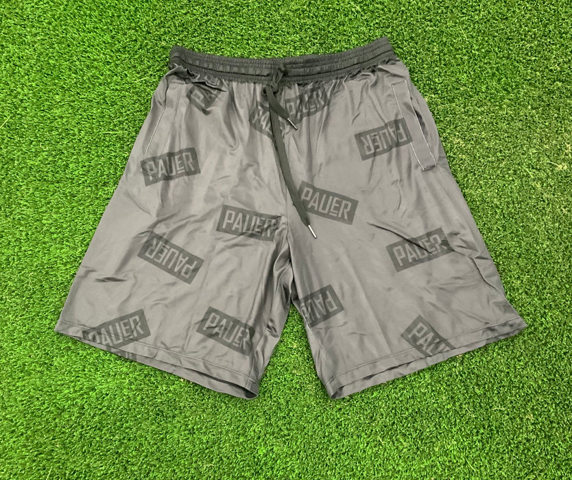 Pauer Block Logo Charcoal Sport-Stretch Graphic Short