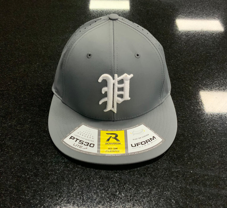 Pauer White P Logo Flex Fit Lite