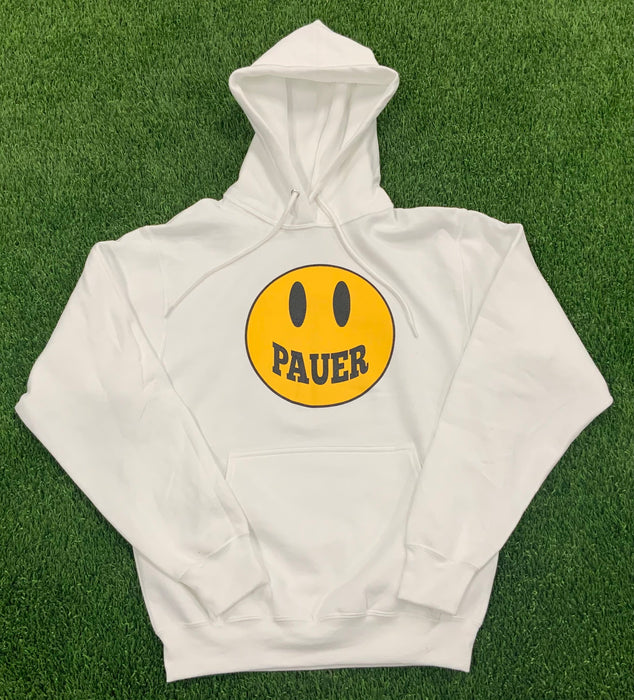 Pauer Smiley Face White Hoodie