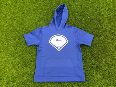 Kids Pauer Diamond Royal Fleece Short Sleeve Hooded Pullover