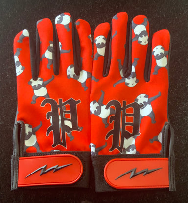 Pauer Red Panda Full Dye Sublimated Batting Gloves
