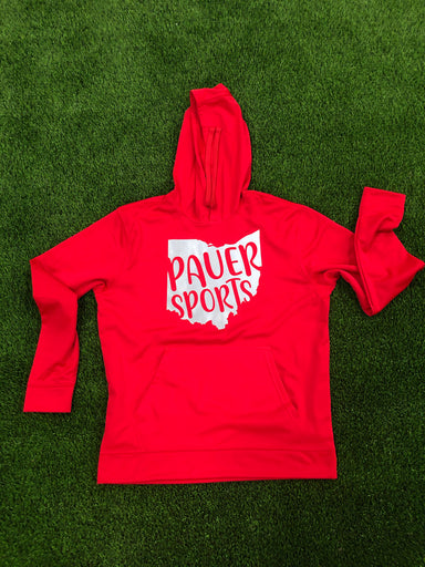Pauer Ohio Red Dry Fit Hoody