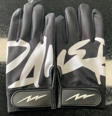 Pauer City Black Batting Gloves