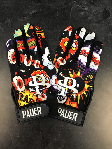 Pauer Sports Boom Black Full Dye Batting Gloves