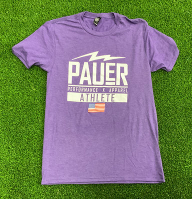 Purple Pauer Performance ATHLETE Short Sleeve T-Shirt