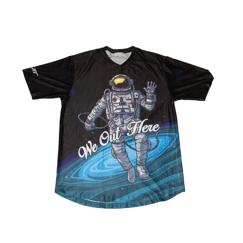 Spaceman Perfect-Mesh Jersey Tee