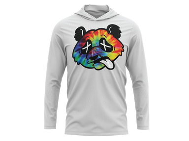 Pauer Wasted Panda Tie Dye Hooded Pullover