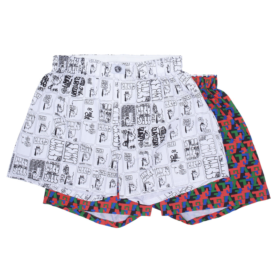 Two Pack Boxers Wanto Dill/Monogram Art