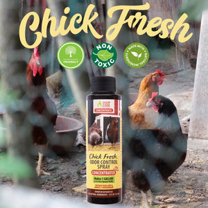 Chick Fresh Concentrate - Eliminate Odors in Brooder, Coop, Litter Box, etc. FREE 24 oz. Sprayer - FlexTran Animal Care