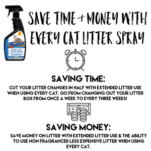 Every Cat Litter Spray - Eliminate Odors & Cut Litter Box Changes In Half!