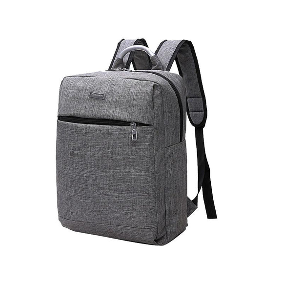 Men's Backpack Solid Color All Match Large Capacity Durable Bag