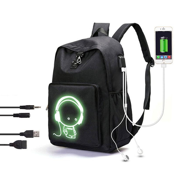 New nylon waterproof backpack with USB Port