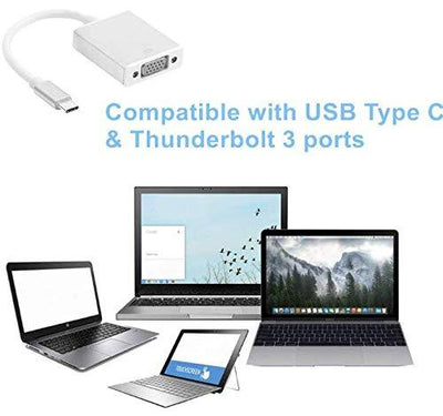 Type C to VGA Adapter for Apple New MacBook