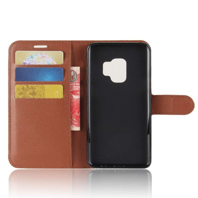Samsung Galaxy S9 Leather Wallet Case Cover