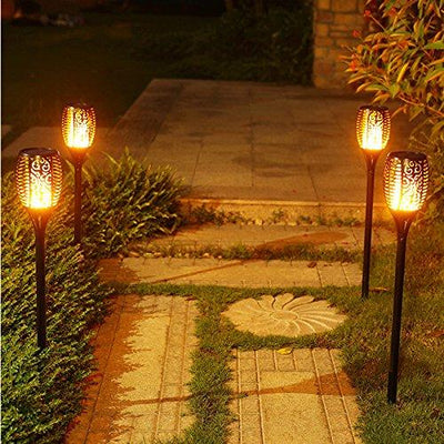 Solar Flame Flickering Lawn LED