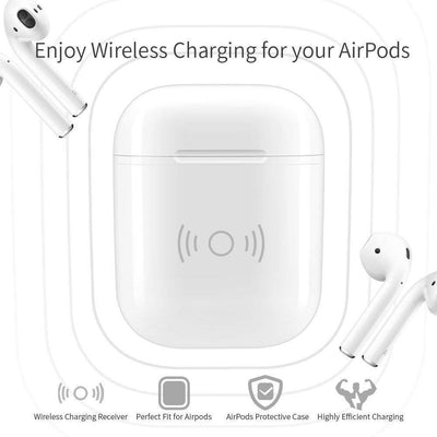 Wireless Charging Case Cover for Apple AirPods & All Qi Wireless Charger