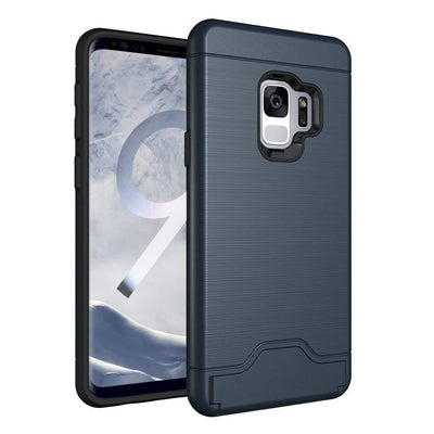 Shockproof Slim Fit Hybrid Galaxy S9 Case, [Card Slot Holder]
