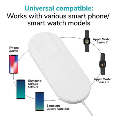Wireless Charger 2 in 1 for Apple Watch and iPhone