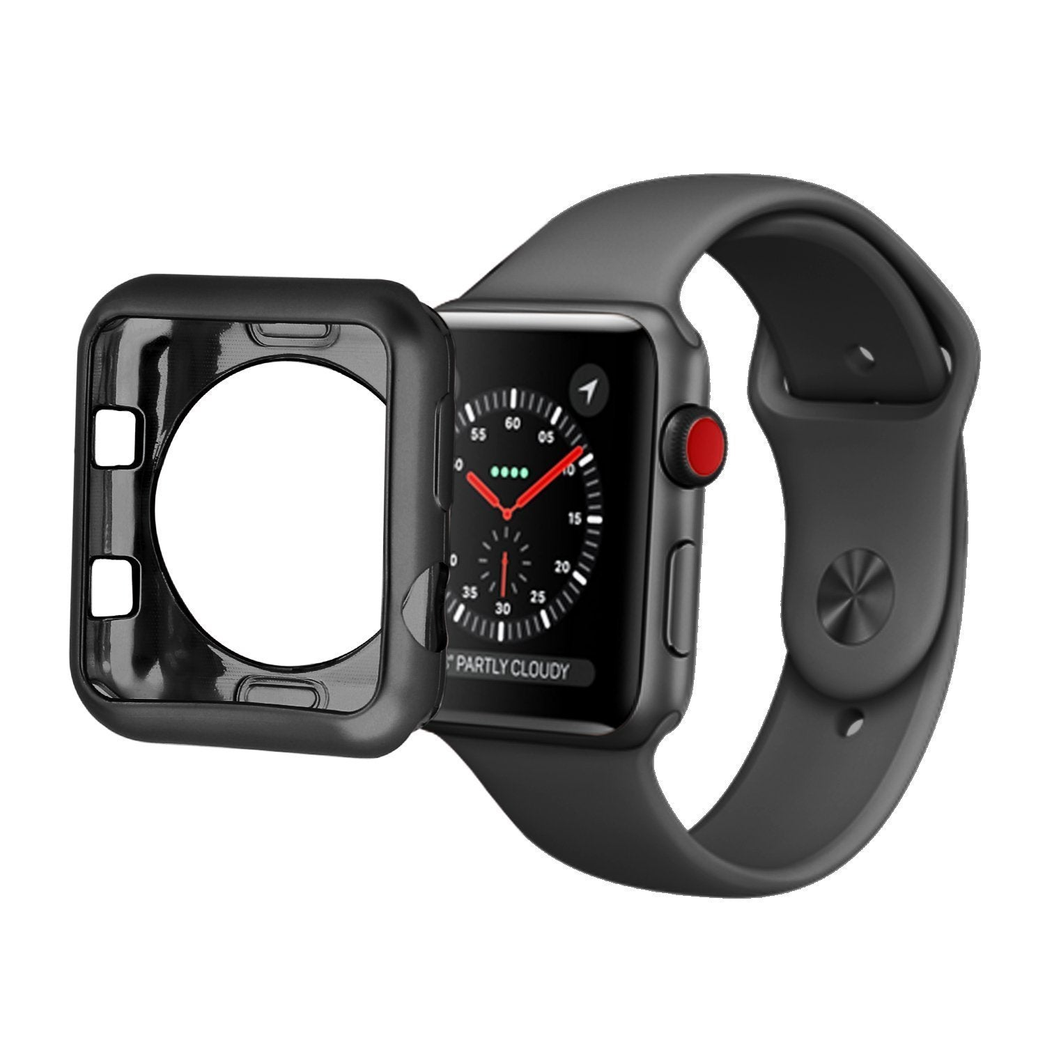 buy popular 0df0f 82cd7 Protective Transparent Cover Case (TPU) for Apple Watch Series 3/2/1 38mm